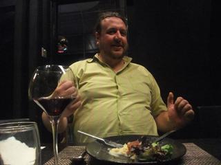 Andrew Sharing Over Dinner