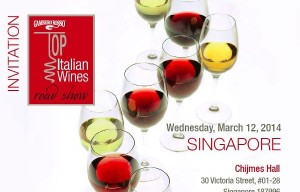 Mark the date – Gambero Rosso in Singapore on 12th March 2014