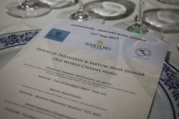 Peranakan cuisine x Sartori wines – How spicy can we go?